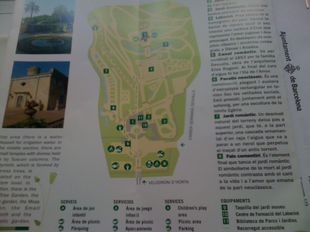 Mapa del Parque del Laberinto